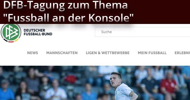 """DFB plant """"Fussball an der Konsole"""" in aktiven Fussball zu integrieren"""