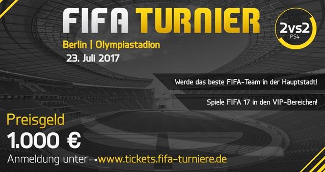 FIFA Turnier im Berliner Olympiastadion – Insgesamt winkt ein Preisgeld von 1000,- €!