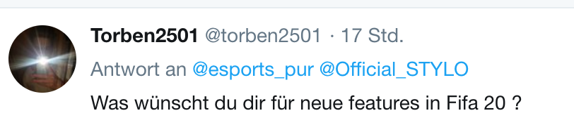 Twitter Fifa esport Community Fragen